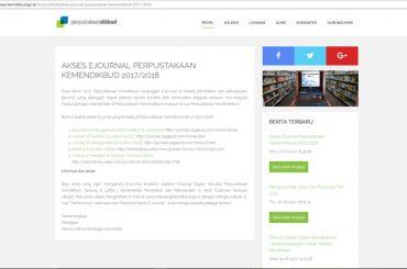 AKSES EJOURNAL PERPUSTAKAAN KEMENDIKBUD 2017/2018